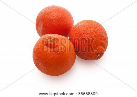 Orange Fruits On A White Background