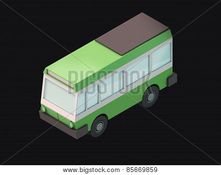 Cartoony 3D bus