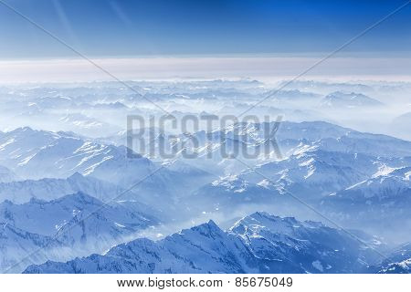 The bavarian alps seen from above