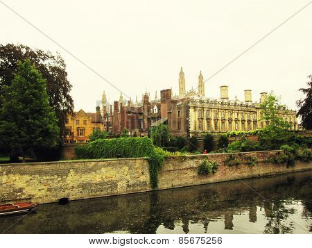 Cambridge University And The River Cam