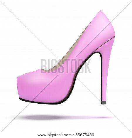 Pink vintage high heels pump shoes