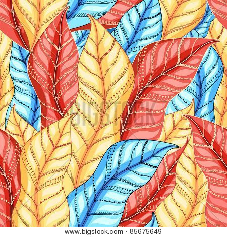 multicolored pattern of leaves