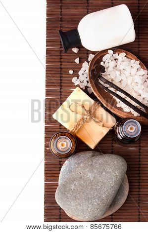 Spa Still Life Isolated On White Background
