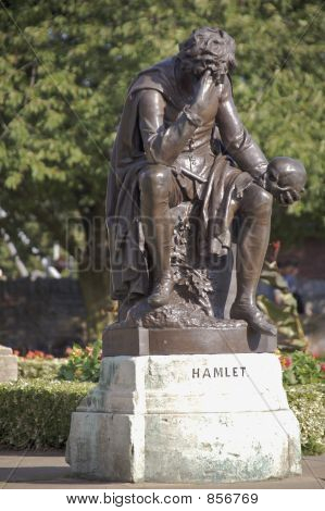 statue of hamlet stratford upon avon
