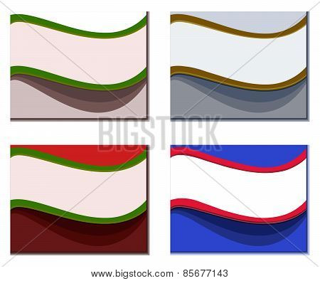 Set of colorful wavy backgrounds