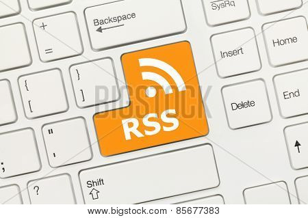 White Conceptual Keyboard - Rss (key With Logotype)