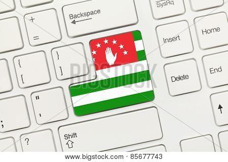 White Conceptual Keyboard - Abkhazia (key With Flag)