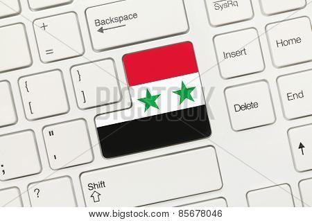 White Conceptual Keyboard - Syria (key With Flag)