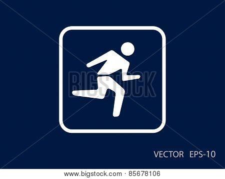 Flat icon of running man