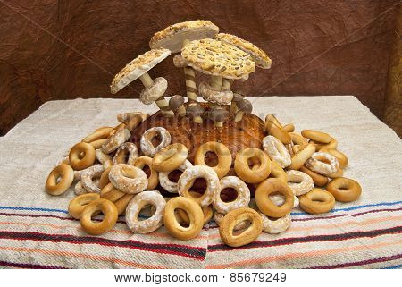 Mushroom Composition Of Bakery Products