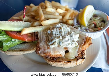 Fried Fish Sandwich Platter