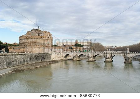 Rome, Italy - January 27, 2010: Castle Of The Holy Angel