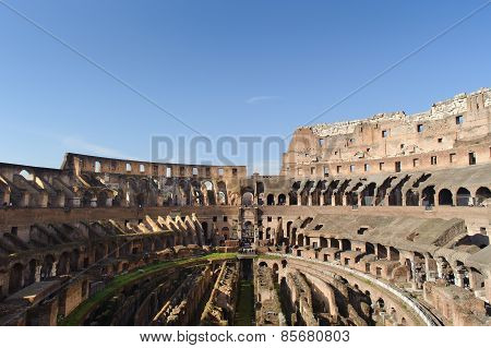 Rome, Italy - January 21, 2010: Colosseum (colosseo)