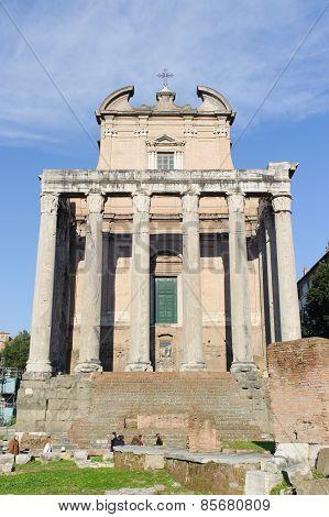 Rome, Italy - January 21, 2010: Basilica Amelia