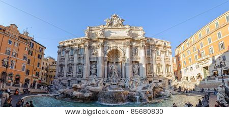 Rome, Italy - January 21, 2010: Trevi Fountain