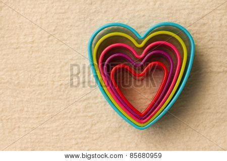 colorful heart shaped on fleece