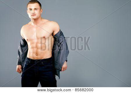 Muscular Man Posing.