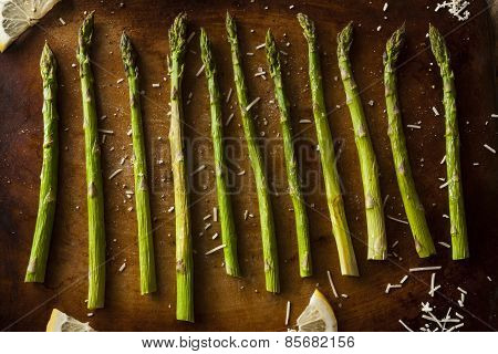 Homemade Cooked Green Asparagus