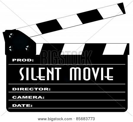 Silent Movie Clapperboard