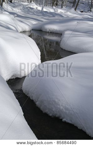 Canyon Made Of Snow