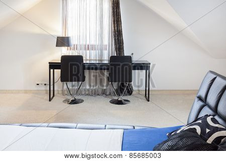 Bedroom With Study Place