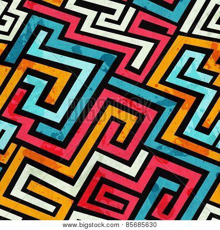 Graffiti Lines Seamless Pattern
