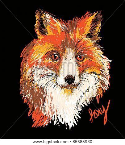 Vector of stylish fox illustration