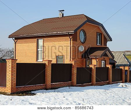 Modern Two-storey Red Brick Cottage