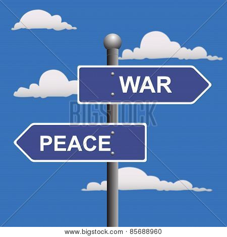 War, peace, opposite, signs