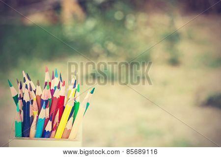 Color Pencils In Vintage Style