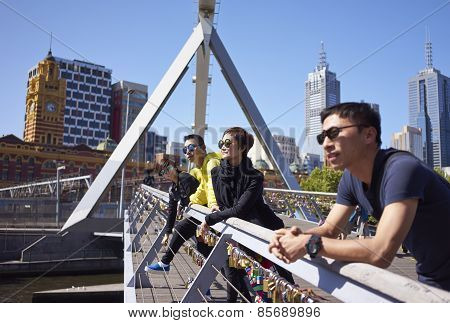 Travellers On Bridge