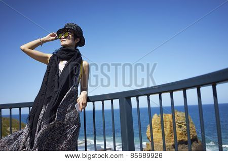 Young Woman Beside Sea