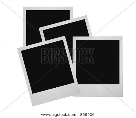 stack of photo frames