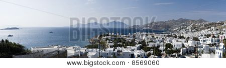 Panoramic View From Mykonos, Greece