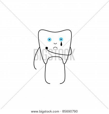 Tooth With Hole And Tear