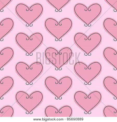 Vignette Hearts Pattern