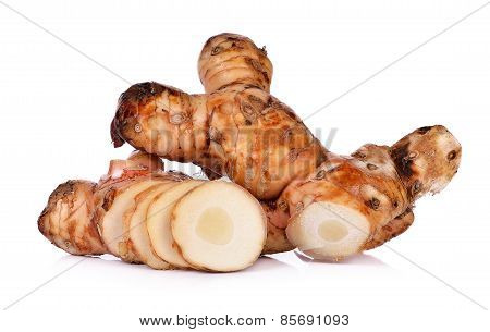 Galangal Isolated On White Background