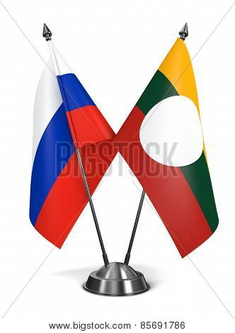 Russia and Shan State - Miniature Flags.