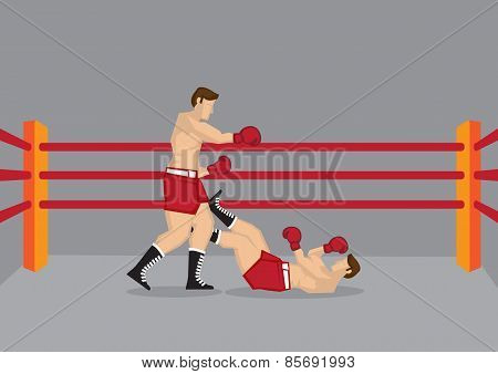 Two Boxers In Boxing Ring