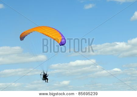 Hang-glider In Flight