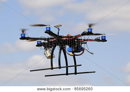 Hexacopter In Flight