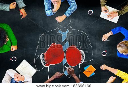 Boxing Competition Fighting Sport Aggressive Concept