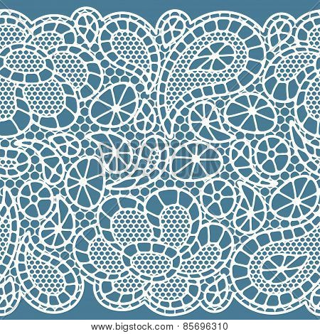 Seamless vintage fashion lace pattern with abstract flowers