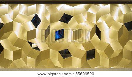 Gold sparkle glitter background Glittering mosaic pattern