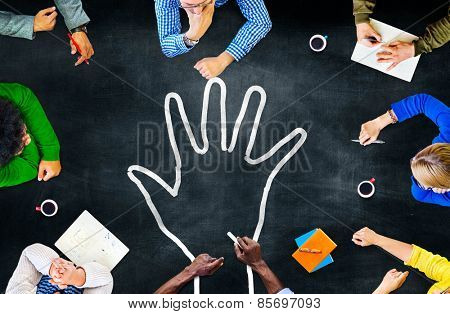 Hand Responsibility Role Duty Task Concept