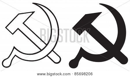 Sign of the hammer and sickle