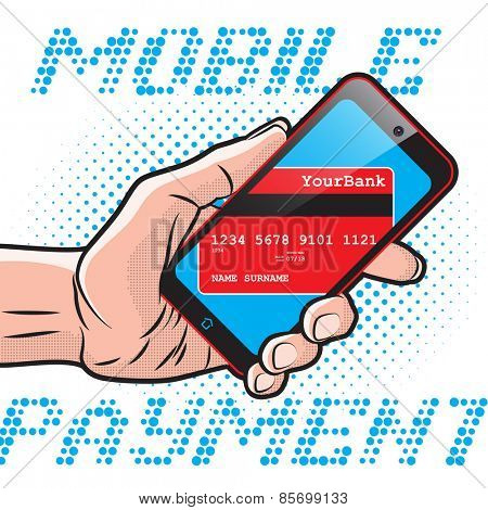 Mobile Payment using Smartphone and Credit Card, Online Banking Communication Technology