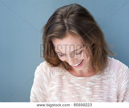 Close Up Attractive Older Woman Laughing
