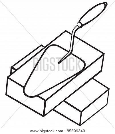 Symbol brick and trowel