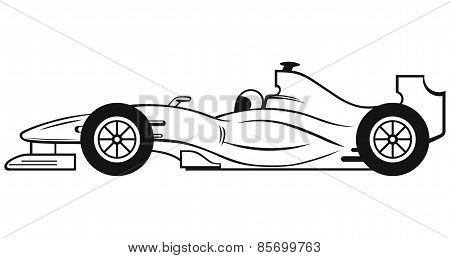 Racing car with a racing